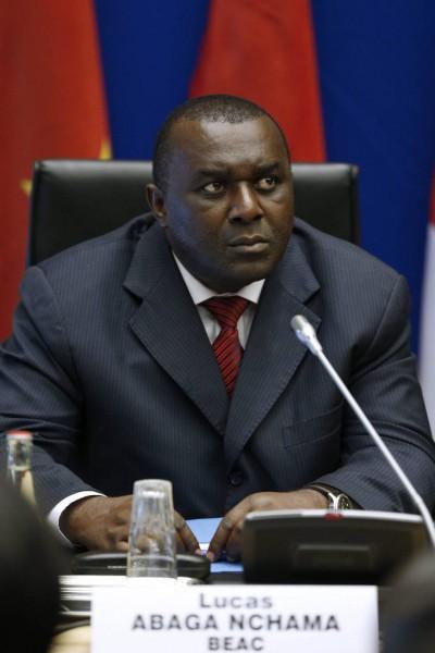 Lucas Abaga Nchama,  Gouverneur de Banque des États d'Afrique centrale (BEAC)