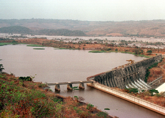 Overall view of the Inga dam, located some 350 kilometers (220 miles), Southwest of Kinshasa, taken 30 August. The dam with was under rebels control, supplied electricity to the capital kinshasa was reseized by troops of President Laurent Kabila and Angolan troops.