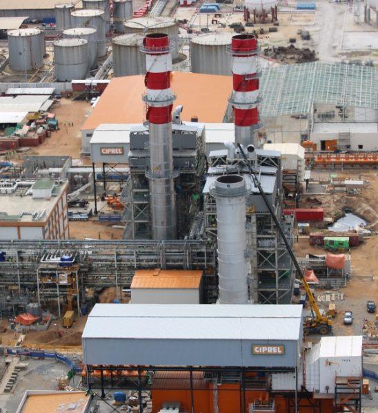 Vue d'ensemble de la centrale de CIPREL, à Abidjan. © CIPREL