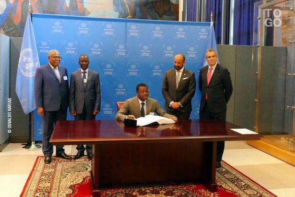 Faure Gnassingbé lundi 19 septembre au siège des Nations Unies à New York