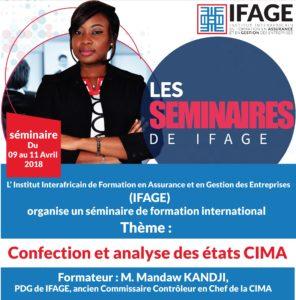 Saly, séminaire sur les états  CIMA (IFAGE) @ Dakar | Saly | Thiès | Sénégal