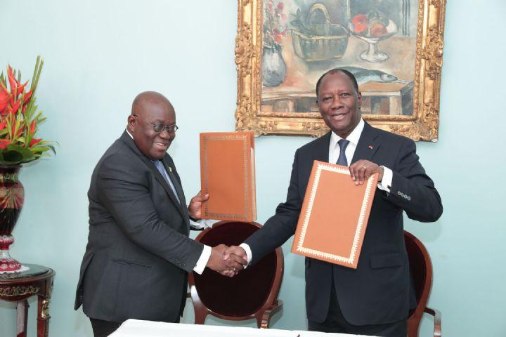 Côte d'Ivoire - Ghana : signature d'une déclaration pour une politique commune