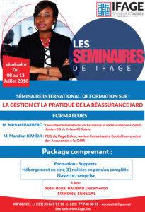 Somone (Sénégal): Séminaire international de formation sur «la gestion et la pratique  de la réassurance  IARD»