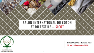 SALON INTERNATIONAL DU COTON ET DU TEXTILE – SICOT @ Koudougou, Burkina Faso