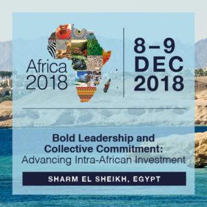 Le Caire, troisième édition de l'Africa 2018 Forum @ Charm El Cheikh